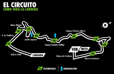 Circuito Nike we run 15.12 Hostales de Chile